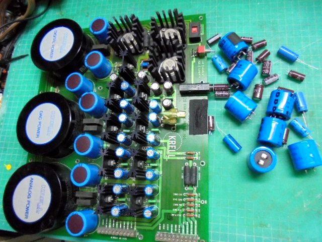 KRELL SBP-64Xの電源部整備|容量抜けしたコンデンサを交換