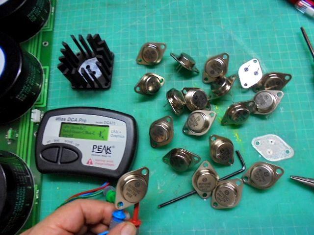 KRELL SBP-64Xの電源部整備|交換予定のトランジスタの測定