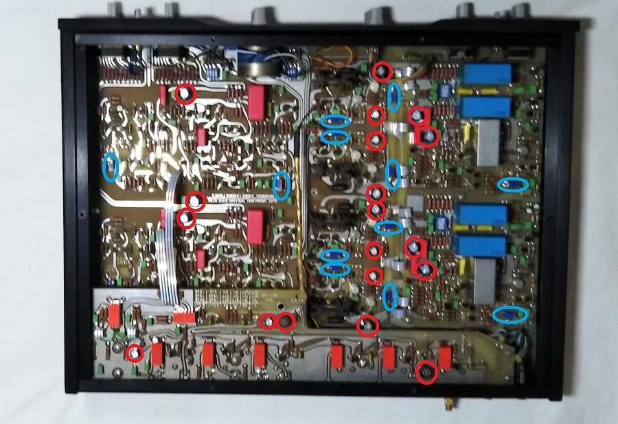 マークレビンソン26L|メイン基板の劣化部品