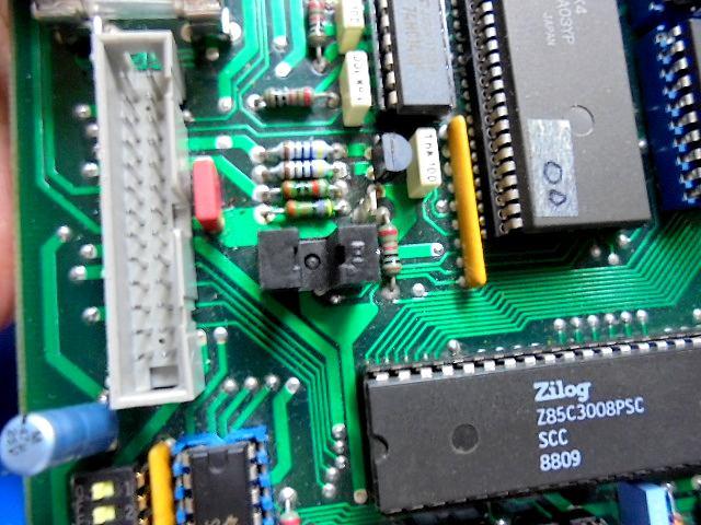 TUDER_A727_のトレー開閉光センサー半分不良のため当店の在庫品と交換