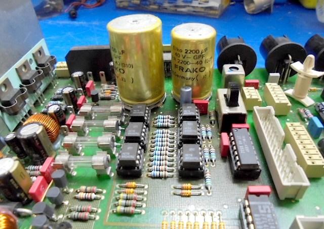 STUDER A730オーバーホール整備 電源部の状況