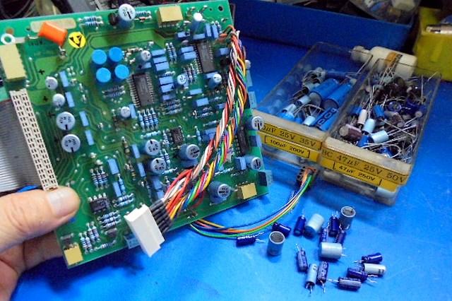 STUDER A730オーバーホール整備 制御基板の整備