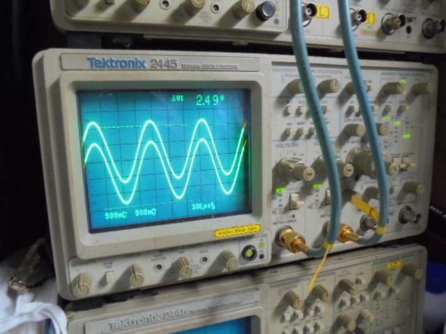 STUDER D731オーバーホール整備 1KHzの正弦波の歪率