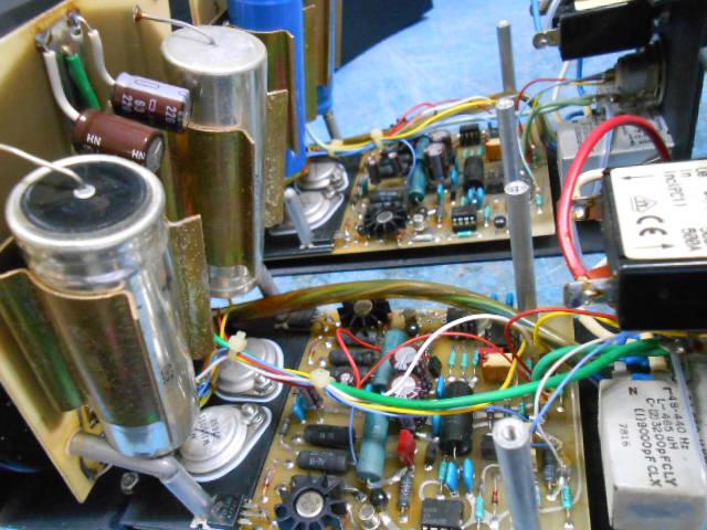 Mark Levinson ML6|マークレビンソンML6 モノラル・プリアンプ|修理前電源内部